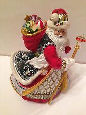 Precious Treasure Heirloom Santa Claus Figurine Inspired By Peter Carl Faberge
