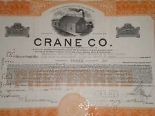 Crane Co.1930 (Brass Bell Foundry) Free Shipping