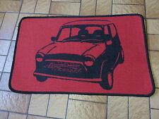 Retro Mini Auto corto Pila alfombra / alfombra antideslizante Gel posterior Rojo Negro Nuevo
