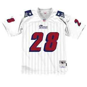 New England Patriots Curtis Martin #28 Mitchell & Ness White 1995 Legacy Jersey