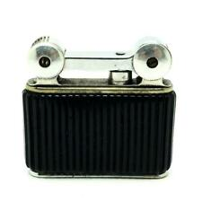 Vintage Flamidor Eclair French Semi-Auto Lighter Ribbed Black Body - WORKING