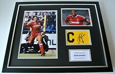 John Barnes Signed FRAMED Huge Captains Armband Photo Display Liverpool & COA