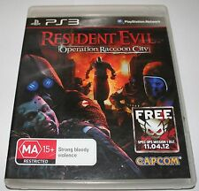 Resident Evil Operation Raccoon City Sony Playstation 3 PS3 Complete FREE POST
