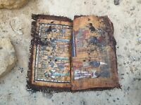 Rare Antique Ancient Egyptian Book 11 papyrus Gods Judgement Day king 1840 BC