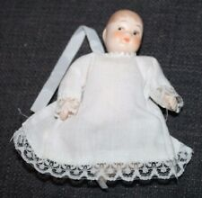 Miniature Bisque Baby Doll Painted Features