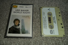 LEO SAYER Cassette Album - WORLD RADIO (UFO 4442)