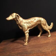 Antique Doorstop Usa Borzoi Wolfhound Saluki Cast Iron Statue Dog Priority Mail