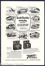 1947 ZENITH Radio advertisement, Trans-Oceanic & Universal radios