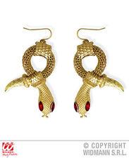 Boucles d'oreilles serpent or W / bijoux yeux rouge Gem pour Déguisements Egypte romaine