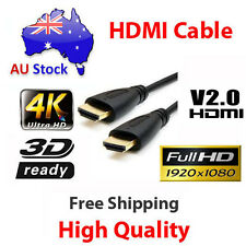 1m HDMI Cable v2.0 3D High Speed with Ethernet HEC Full HD 1080p Gold Plated