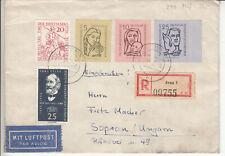 DDR, portorichtiger Luftpost Brief mit 548-0, Mif