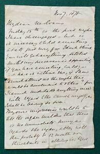 Antique Signed Letter Bishop Samuel Wilberforce Soapy Sam 1878 Slavery Darwin