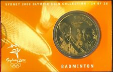 Australian  Last $5 Bronze Coin Badminton Folder - Sydney Olympics Commemorative