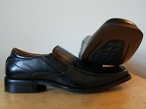 Men/'s Dress Casual Shoes Slip On Loafers Black Woven Print MAJESTIC 88263