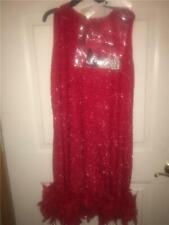 NEW FLAPPER ROARING 1920 SHIMMER FEATHER HALLOWEEN COSTUME sexy Adult Women sz M