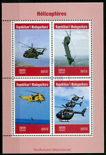 Madagascar 2019 CTO Helicopters Helicopter 4v M/S Red Cross Aviation Stamps