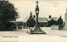 PRINTED POSTCARD OF BROMBOROUGH CROSS, (NEAR BIRKENHEAD), CHESHIRE BY WRENCH