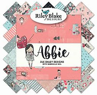 "Abbie by Sue Daley for Riley Blake (42) 10"" Stackers Layer Cake Cotton Fabric"