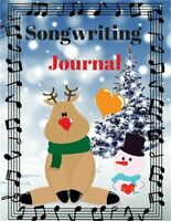 Songwriting Journal: Cute Music Composition Manuscript Paper for Little Musician