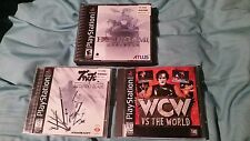 PS1 Hoshigami + Bushido Blade CIB   WCW/nWo Vs. The World (Replacement Case) Lot