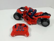 rare Marvel Spider-man U control motorcycle RC lights sound Thinkway Toys