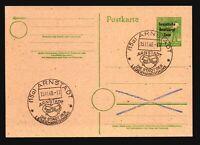 Germany DDR 1948 Postal Card / Arnstadt Event Cancels - Z17216