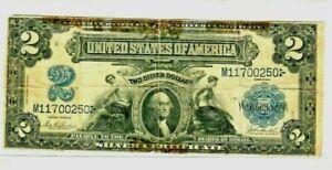 "$2 ""GEORGE WASHINGTON"" (FR-255) 1899 (RARE) $2 ""WASHINGTON"" (FR-255) NICE NOTE!!"