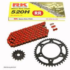 Kettensatz KTM EXC 200 Racing 00-11  Kette RK FR 520 H 118  offen  ROT  14/42