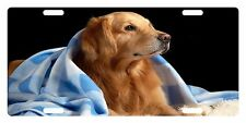 GOLDEN RETRIEVER DOG Custom License Plate CANINE BREED Emblem BLANKET Version
