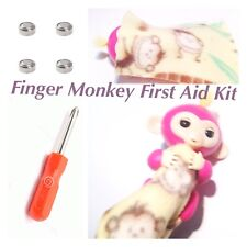 Finger Monkey First Aid Kit Batteries Fit Fingerlings And Other toys LR44 + Tool