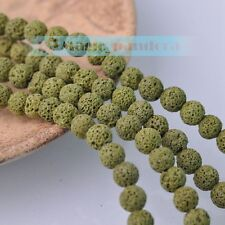 New Wholesale 8mm Natural Volcanic Lava Rock Gemstone Loose Spacer Round Beads