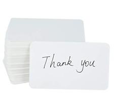 Fecedy 100pcs Blank Kraft paper Business Cards Word Card Message Card Diy Gift