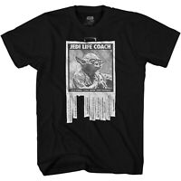 Star Wars Yoda Life Coach Adult Tee Graphic T-Shirt for Men Tshirt