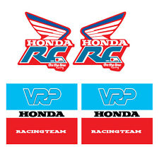 1989-1990 HONDA CR 125 ON THE LINE VRP SHROUD AND TANK DECALS VINTAGE MOTOCROSS