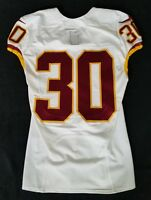 #30 of Washington Redskins NFL Locker Room Game Issued No Nameplate Jersey
