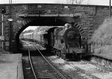 PHOTO  1981 IRELAND STEAM TRAIN AT BANGOR WEST RAILWAY STATION A PRESERVED STEAM