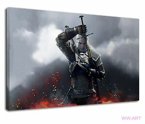 The Witcher 3 Wild Hunt Gamers Bedroom Pc Game Canvas Wall Art Picture Print