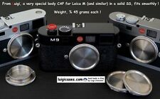 LUIGI'S STAINLESS STEEL BODY CAP x LEICA M2,M3,M4,M5,M6,M7,MP,M9,M240,MM1,MM2+++