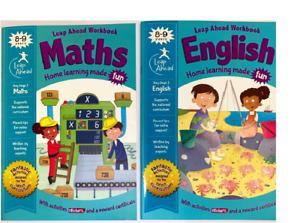 MATHS & ENGLISH Book Leap Ahead work book HOME SCHOOL Age 8-9 KS2