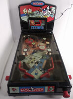 RARE Monopoly Electronic Pinball Machine by Hasbro (2000) Perfect For Game Rooms