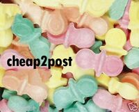 Baby Shower Cake Toppers Edible Candy Dummies/Pacifiers Boys Girls Colours Dummy