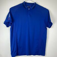 RLX Ralph Lauren Men's XL Blue Short Sleeve Polo Shirt Elastane