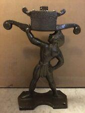Hercules Sundial Large Solid Brass & Iron Armillary