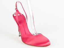 New Giuseppe Zanotti Pink Satin Upper Sandals Size 40 US 10