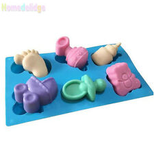 Baby Bottle Carriage Flexible Silicone Candy Chocolate Soap Ice Cube Mould Mold