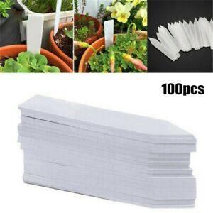 100 *plant Label White Waterproof Plastic Garden Labels Gardening Plant,UK~