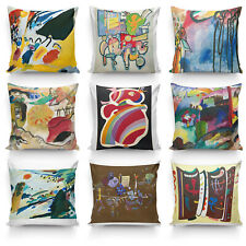 Painting By Wassily Kandinsky High Quality Silk Pillowcase Sofa Cushion Cover