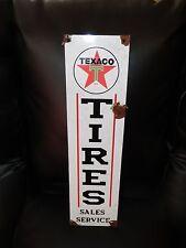 Antique style-porcelain look Texaco star tires oil dealer gas pump sign NICE