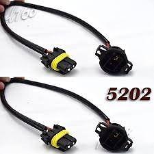 2X 9006 to 9009 5202 Adapter LONG Wire LED Fog Light Lamp for Wrangler GM H16