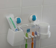 New FLIP Wall Strong Suction Absorption ABS Toothbrush Holder hanger rack bath